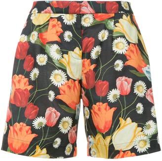 Mother of Pearl tulip-print bermuda shorts