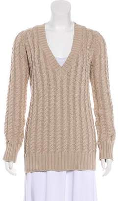 Burberry Long Sleeve Knit Sweater