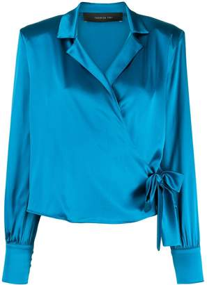 FEDERICA TOSI wrap front silk blouse