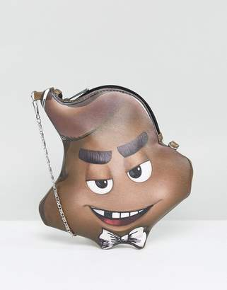 Asos Design x The Emoji Movie Poo Cross Body Bag With Detachable Chain