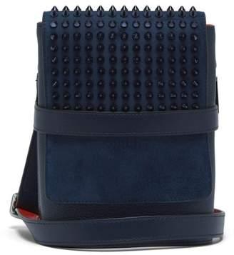 Benech Reporter Spike Embellished Leather Bag - Mens - Blue