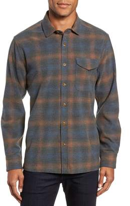 Jeremiah Washburn Regular Fit Plaid Stretch Brushed Flannel Shirt