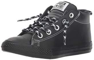 f84aa98e442 Converse Unisex Kids  Chuck Taylor All Star Street Hi-Top Trainers  Black White