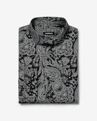 Express Extra Slim Paisley Print Dress Shirt