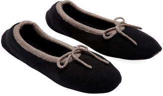 A & R Cashmere A&R Cashmere Merino Wool Slippers - Black - a&R Cashmere