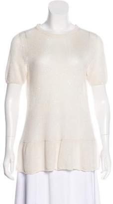 Brunello Cucinelli Embellished Linen & Silk Top