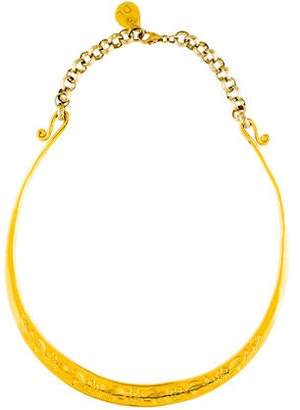 Devon Leigh Engraved Floral Collar Necklace