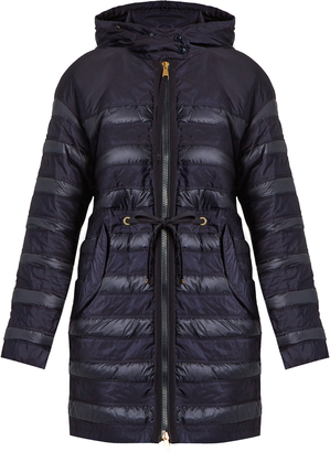 MONCLER Scille hooded panelled quilted down coat $1,195 thestylecure.com
