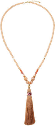Nakamol Beaded Tassel Pendant Necklace
