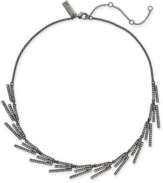 """INC International Concepts I.N.C. Hematite-Tone Crystal Stick Collar Necklace, 18"""" + 3"""" extender, Created for Macy's"""