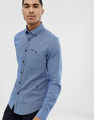 G Star G-Star Core check slim fit shirt in blue