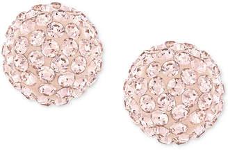 Swarovski Rose-Gold-Plated Crystal Stud Earrings