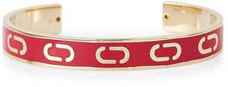 Marc Jacobs Gold-Tone & Red Double J Cuff Bracelet