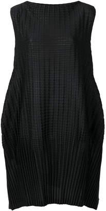 Pleats Please Issey Miyake sleeveless pleated shift dress
