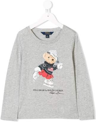 Ralph Lauren Kids bear print T-shirt