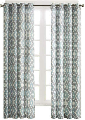 Madison Park Stetsen Diamond-Printed Grommet-Top Curtain Panel