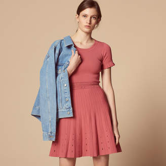 Sandro Knit dress with cut-out details