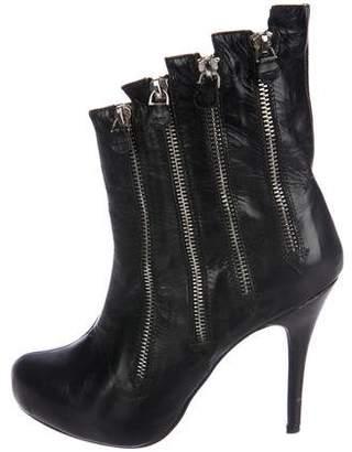 Giuseppe Zanotti Leather Zipper Boots