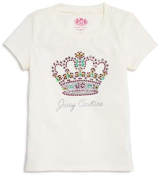 Juicy Couture Black Label Girls' Rhinestone Crown Tee - Big Kid