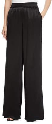 Lafayette 148 New York Hester Reverie Satin Cloth Wide-Leg Pants