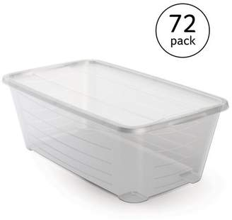 story. LIFE Life 5.5Q Rectangular Clear Plastic Protective Storage Shoe Box (72 Pack)