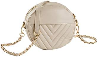 Goodnight Macaroon 'Cheryl' Round Chevron Quilted Chain Bag (4 Colors)