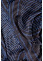 Zadig & Voltaire Printed Kerry Scarf in Navy
