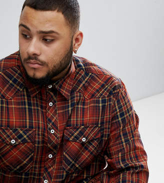 Replika Plus long sleeve check shirt with double chest pockets