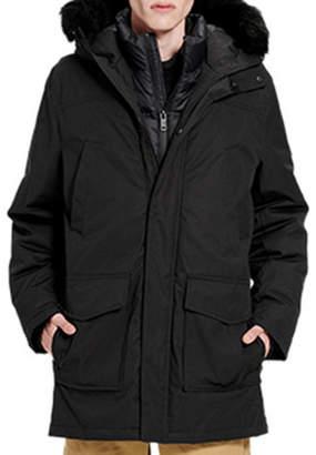 UGG Men's Butte Parka Coat w/ Fur Trim