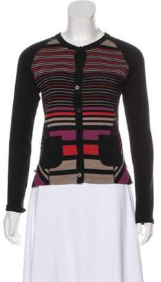 Sonia Rykiel Striped Knit Cardigan Black Striped Knit Cardigan