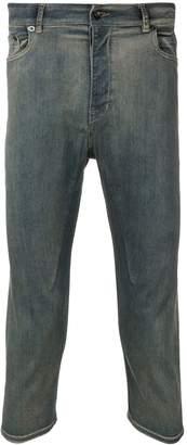 Rick Owens acid wash cropped jeans