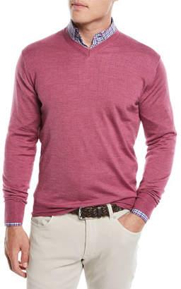Peter Millar Men's Wool/Silk Pullover V-Neck Sweater