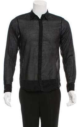 Alexander McQueen Sheer Button-Up Shirt