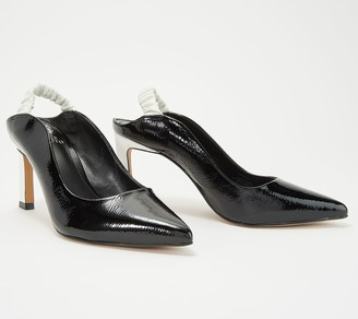 Vince Camuto Patent Leather Slingback Pumps- Restia