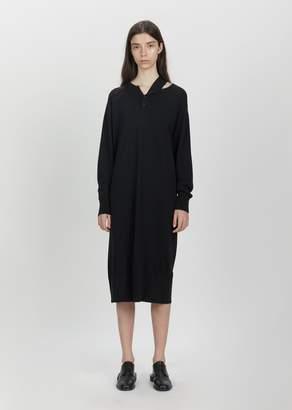 Phoebe English Falling Shoulder Knit Dress Black