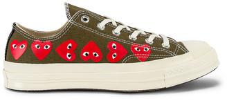 Comme des Garcons Emblem Low Top Sneaker in Khaki   FWRD