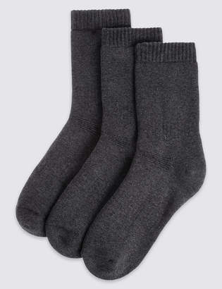 Marks and Spencer 3 Pairs of Cotton Blend Thermal Socks (3-16 Years)