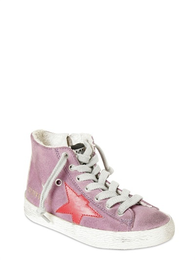 Pink Suede High Top Sneakers