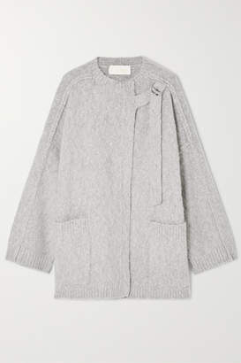 Chloé Wool And Cashmere-blend Cape - Gray