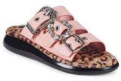 Marc Jacobs Emerson Embellished Leather Sandals