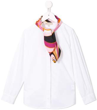 Emilio Pucci Junior scarf detail blouse