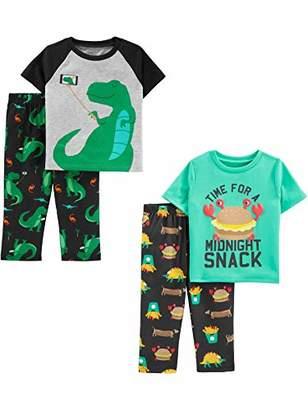 b03d4198b Carter's Simple Joys by Boys' Toddler 4-Piece Fleece Pajama Set