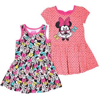 DISNEY MINNIE MOUSE Disney Short Cap Sleeve Minnie Mouse A-Line Dress - Toddler Girls