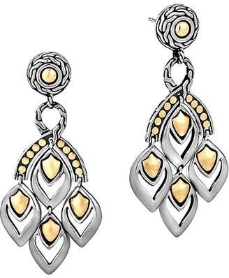 "John Hardy Naga"" Gold and Silver Chandelier Earrings"