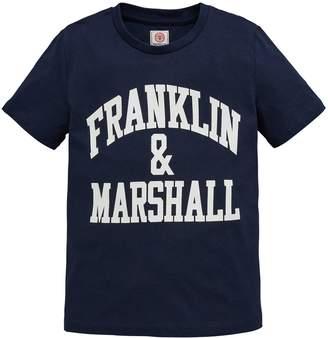 Franklin & Marshall Boys Logo Short Sleeve T-shirt