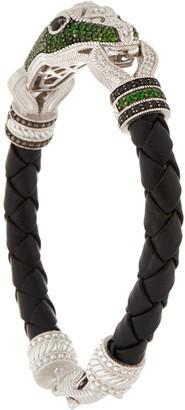Judith Ripka Sterling 1.90 cttw Gemstone Snake Bracelet