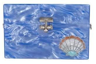 Edie Parker Shell Acrylic Box Clutch