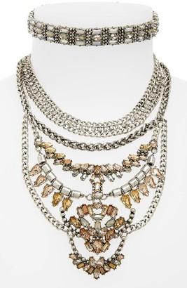 Women's Baublebar Xenia Choker Bib Necklace $68 thestylecure.com