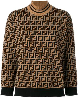 Fendi FF logo turtle-neck sweater