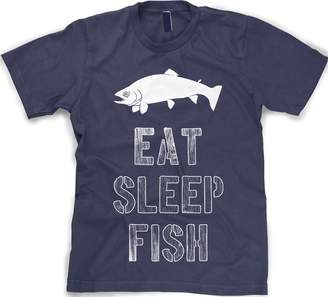 Crazy Dog T-shirts Crazy Dog Tshirts Youth Eat Sleep Fish T Shirt funny fishing tee for kids S